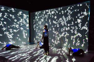 Gravitas von Tarek Assam, 3D//video von Lieve Vanderschaeve