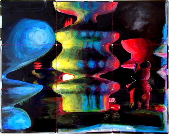 HowAreYou 2001 acryl auf roentgenbildern 72 x 90 cm