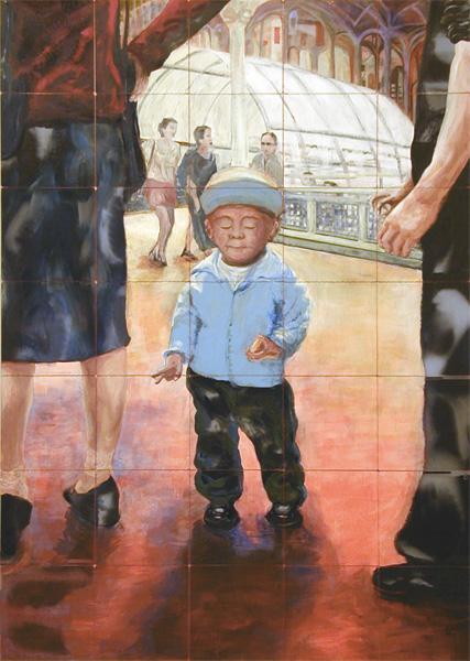 didi 2004 acryl auf roentgenbildern 245 x 175 cm