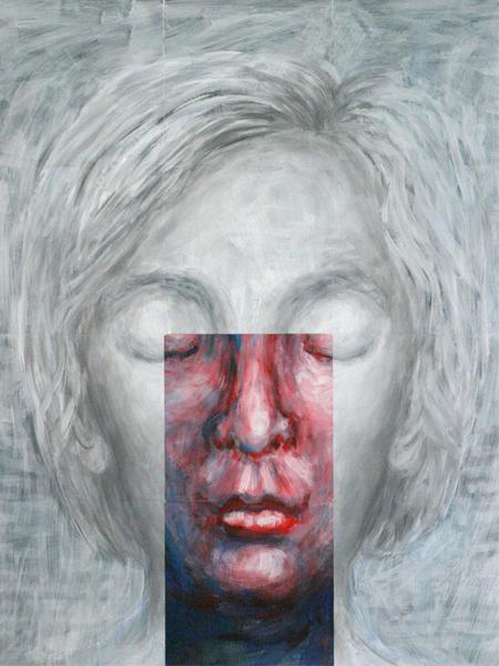 mama 2007 acryl auf roentgenbildern 142 x 105 cm