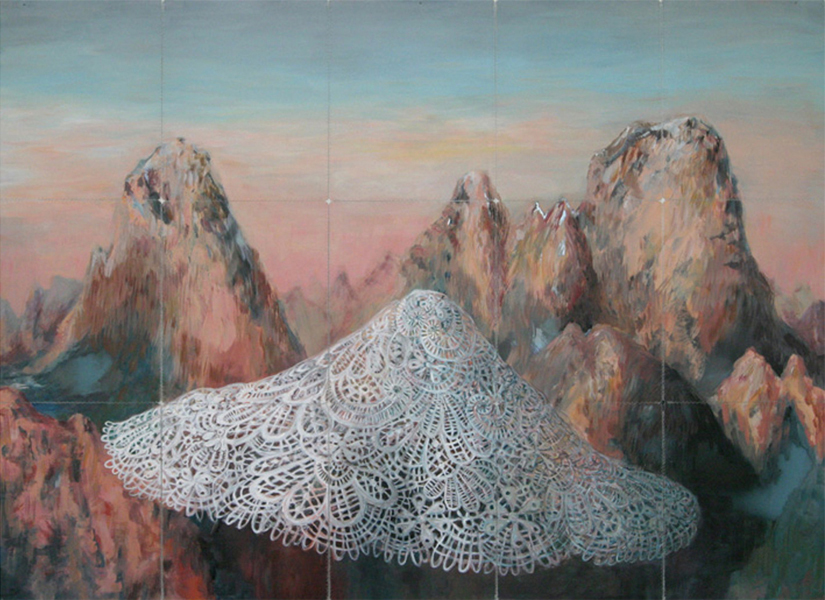 relace 2006 acryl auf roentgenbildern 129 x 177 cm